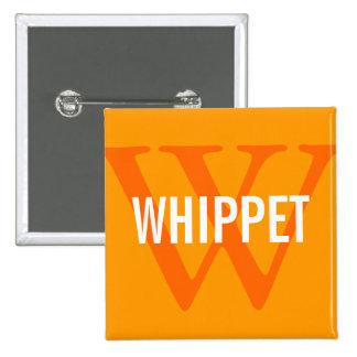 Whippet Breed Monogram Design Button