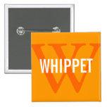 Whippet Breed Monogram Design Pin