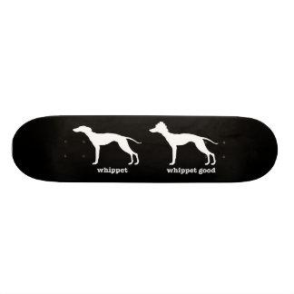 Whippet, buena raza divertida del perro de Whippet Monopatín Personalizado