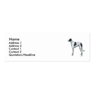 Whippet Double-Sided Mini Business Cards (Pack Of 20)