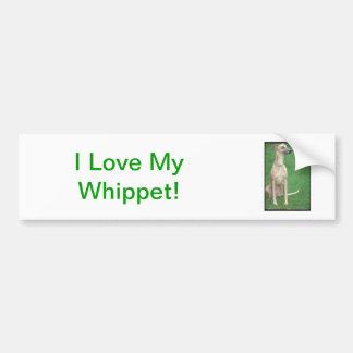 Whippet Car Bumper Sticker