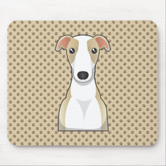Whippet Cartoon Mouse Pad