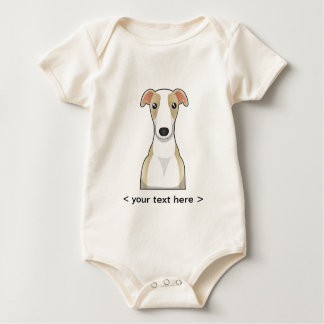 Whippet Cartoon Personalized Baby Bodysuit