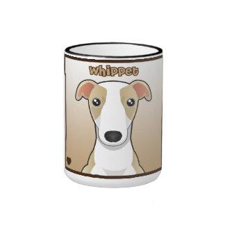 Whippet Cartoon Ringer Mug