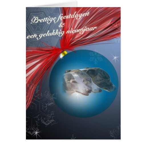 Whippet Christmas card