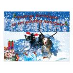 Whippet Christmas card Postcard