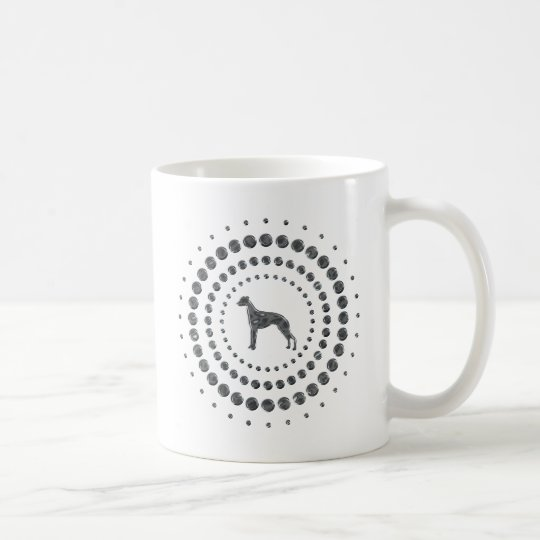 Whippet Chrome Studs Coffee Mug