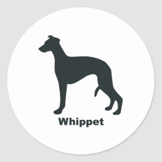 Whippet Classic Round Sticker