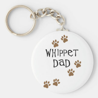 Whippet Dad for Whippet Dog Dads Keychain