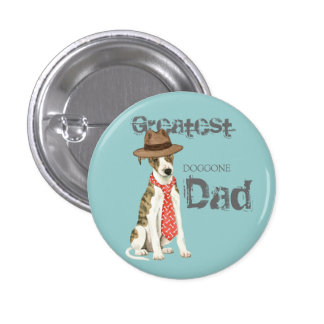 Whippet Dad Pinback Button
