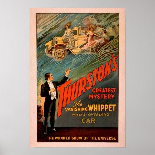 Whippet de desaparición Willys-Overland de Thursto Póster