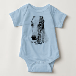 Whippet dog baby bodysuit
