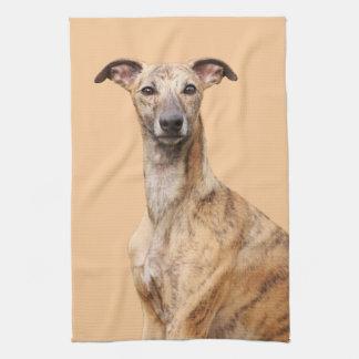 Whippet dog beautiful photo kitchen tea towel