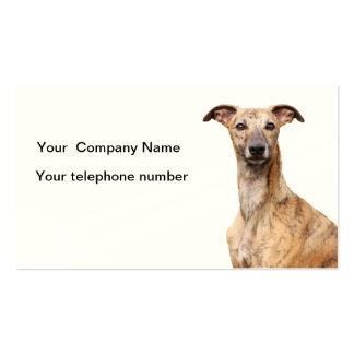 Whippet  dog business card