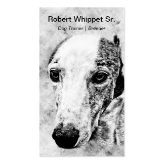 Whippet dog business card template