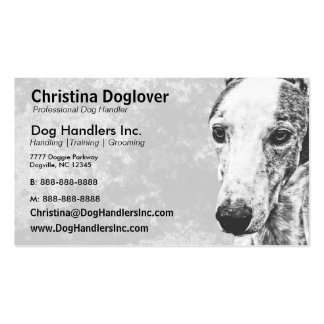 Whippet dog business cards