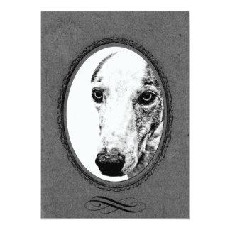 Whippet dog card