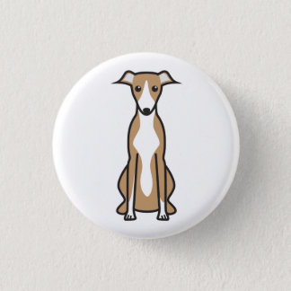 Whippet Dog Cartoon Button