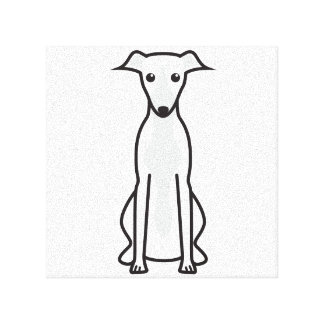 Whippet Dog Cartoon Canvas Print