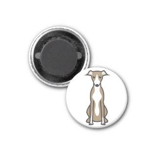 Whippet Dog Cartoon Magnets