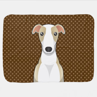 Whippet Dog Cartoon Paws Receiving Blanket