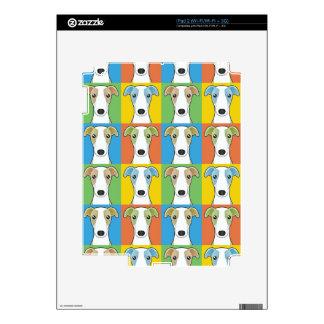Whippet Dog Cartoon Pop-Art iPad 2 Skins