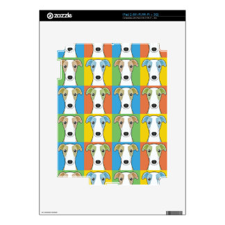 Whippet Dog Cartoon Pop-Art Skin For The iPad 2