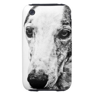 Whippet dog iPhone 3 tough cover