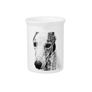 Whippet dog drink pitcher