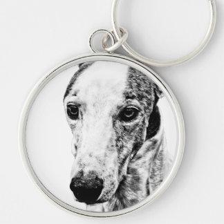 Whippet dog key chains