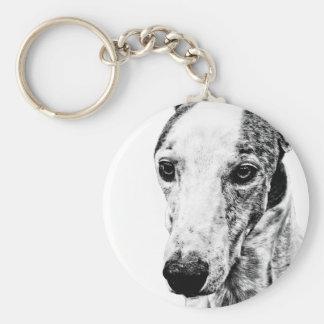 Whippet dog keychain