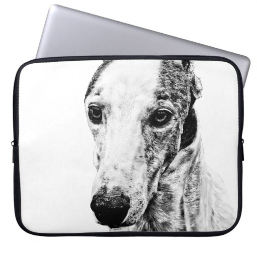 Whippet dog laptop computer sleeve