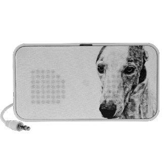 Whippet dog laptop speakers