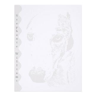 Whippet dog letterhead
