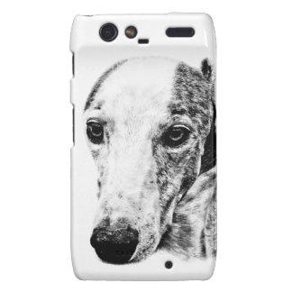 Whippet dog motorola droid RAZR cases