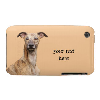 Whippet dog photo custom iphone 3G case mate, gift