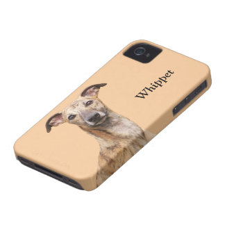 Whippet dog photo custom iphone 4 case mate, gift