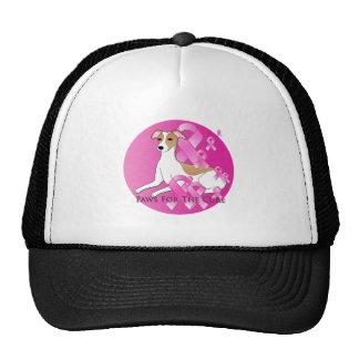 Whippet Dog Pink Ribbon Trucker Hat