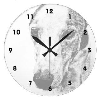 Whippet dog round clock
