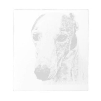 Whippet dog scratch pad
