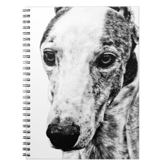Whippet dog spiral note book