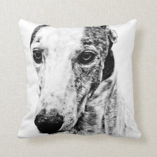 Whippet dog throw pillows
