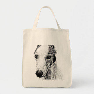 Whippet dog tote bag