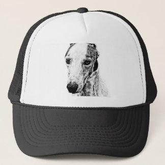 Whippet dog trucker hat