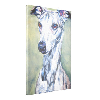 Whippet fine art dog painting canvas print
