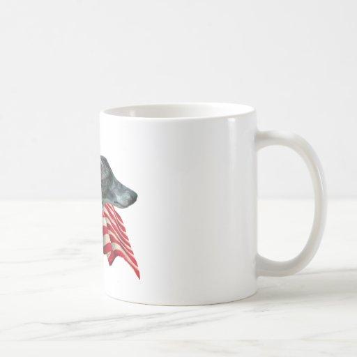 Whippet Flag Classic White Coffee Mug