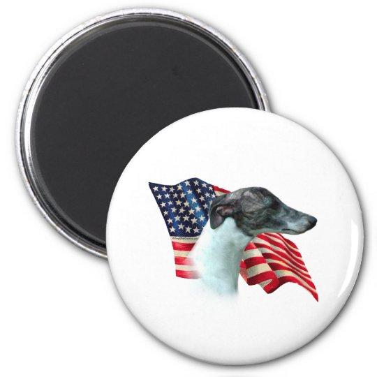 Whippet Flag Magnet