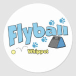 Whippet Flyball Stickers