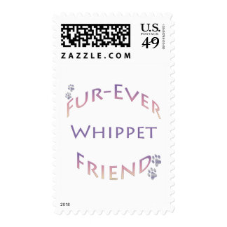 Whippet Furever Friend Postage Stamp