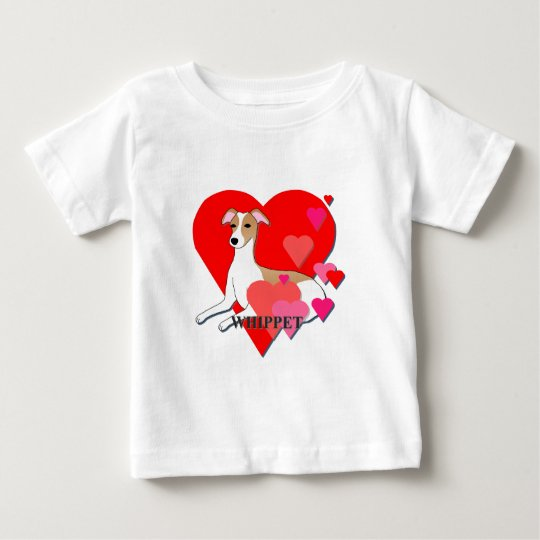 Whippet Hearts Baby T-Shirt